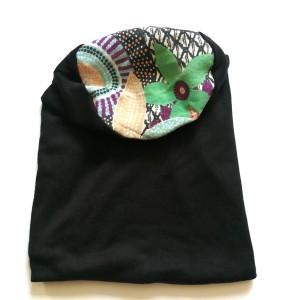 czapka etno boho długa dresówka handmade sport