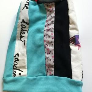 czapka damska patchworkowa dresowa sportowa etno boho zimowa