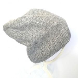 czapka zimowa wełniana szara unisex