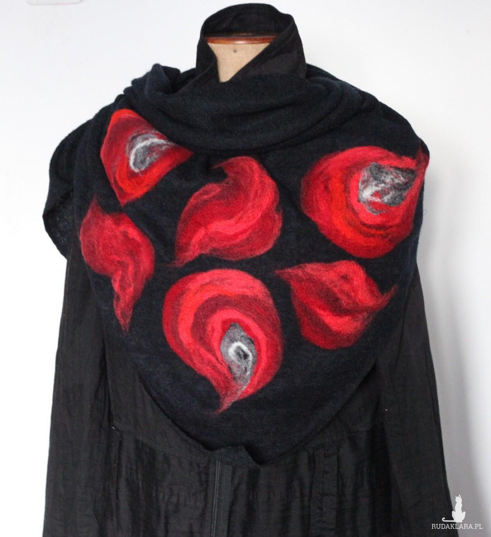 chusta handmade wełnian filcowana
