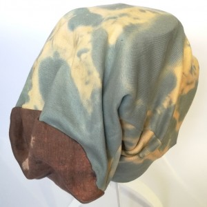 czapka unisex farbowana dzianina smerfetka długa sport bawełna
