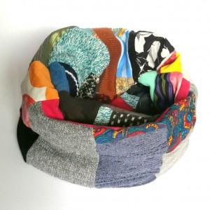 komin damski patchworkowy ciepły zimowy handmade boho