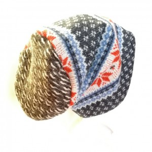 czapka wełniana norweska damska męska zimowa handmade