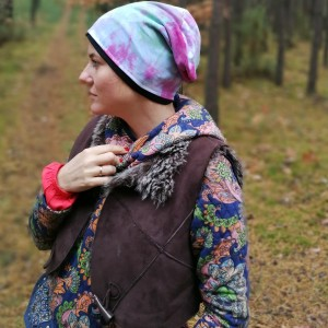 czapka damska dzianinowa farbowana sportowa