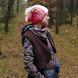 czapka damska patchworkowa dresowa sportowa etno boho
