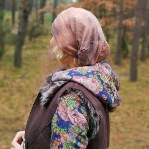 czapka unisex farbowana bawełna dzianina handmade