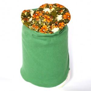 czapka handmade w kwiaty