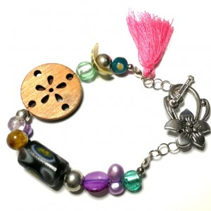 bransoletka etno boho folkowa kolorowa handmade