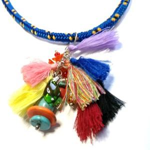 naszyjnik boho etno afrykański kolorowy