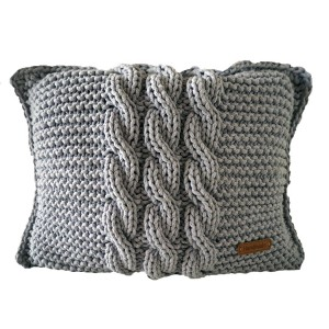 Poduszka ze sznurka bawełnianego melanż 32x45