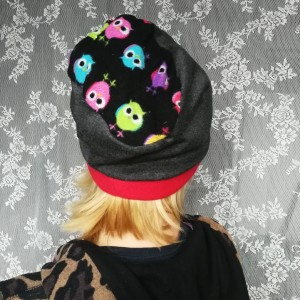 czapka damska szara sportowa krótka wzór dzianina dresowa