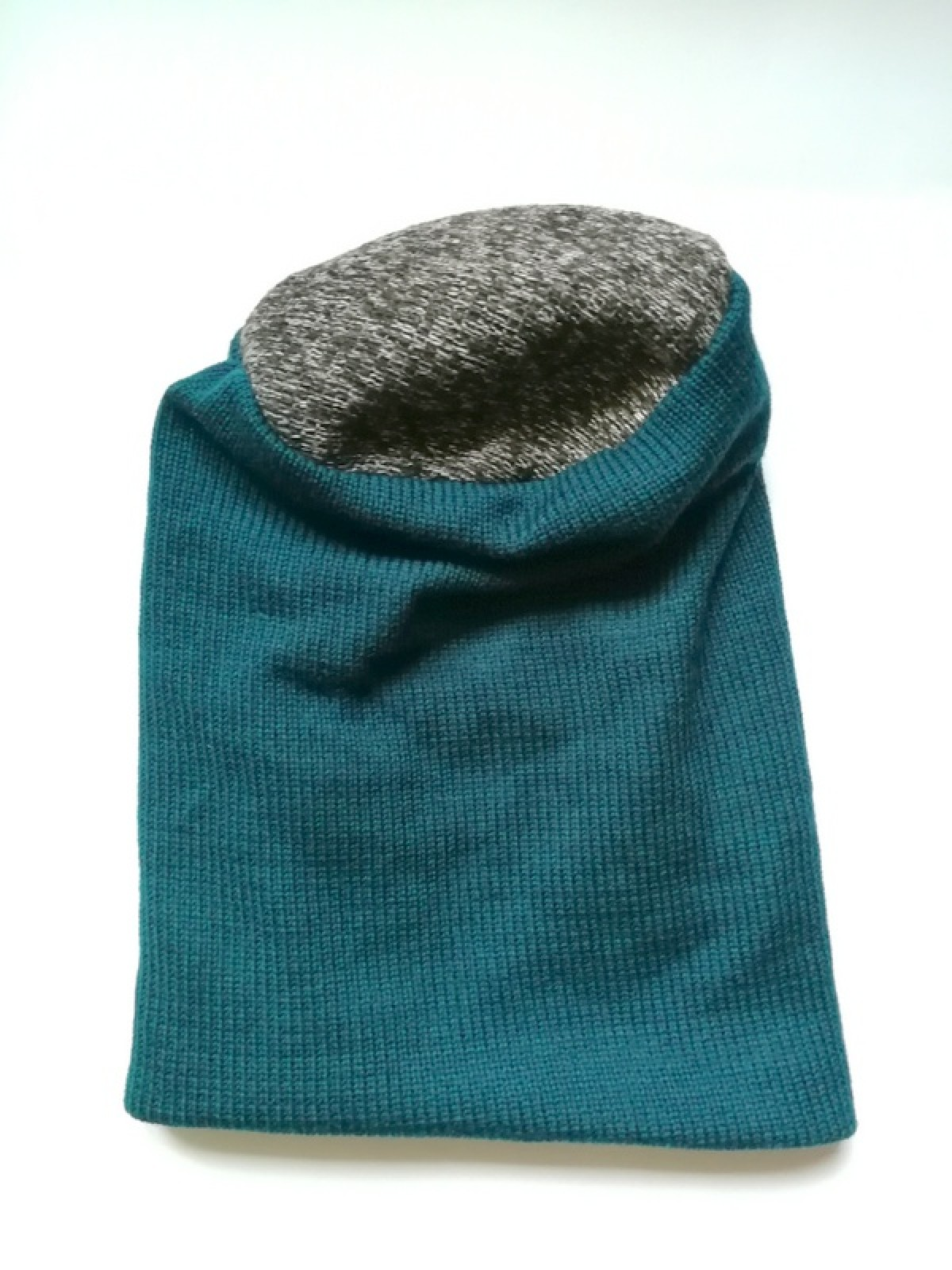 czapka damska męska unisex wełniana ciepła turkus