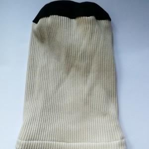 czapka damska męska unisex kremowa zimowa długa