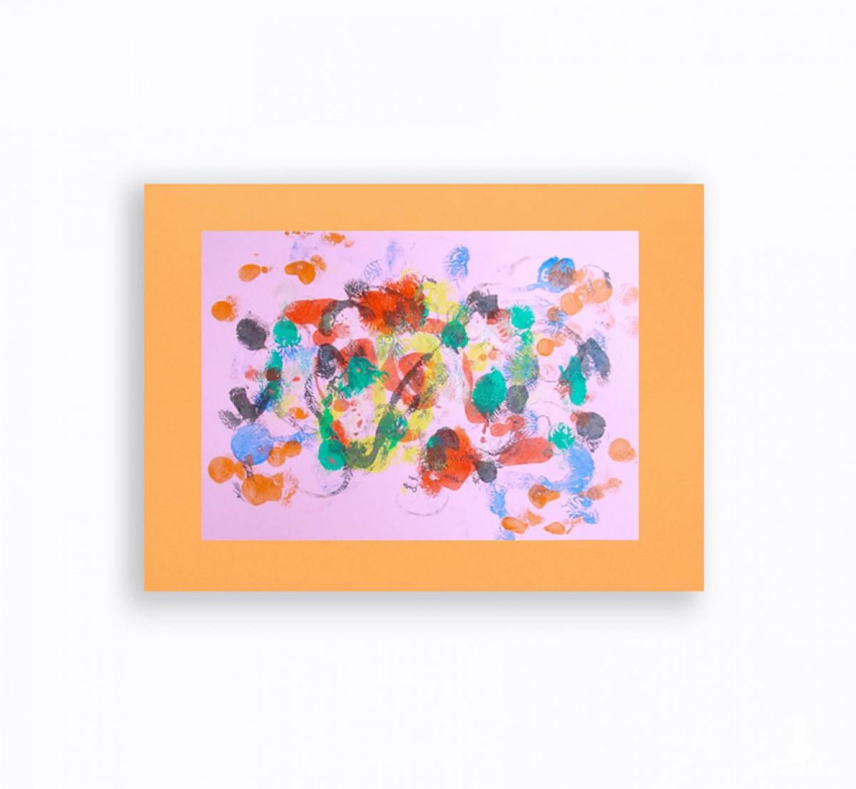 abstrakcja ręcznie malowana, kolorowa dekoracja na ścianę, nowoczesna grafika do pokoju, energetyczny obraz do loftu