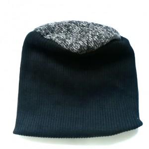 czapka damska męska unisex czerń wełna szary