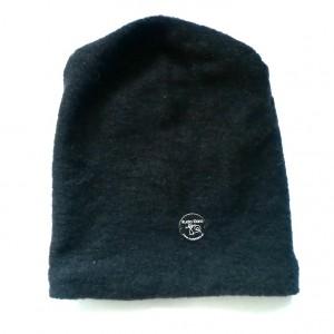 czapka czarna zimowa męska damska handmade