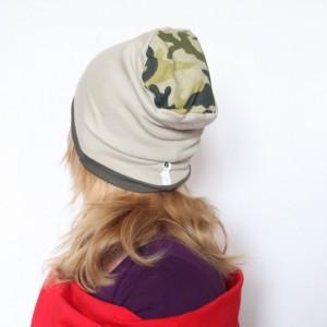 czapka dresowa moro handmade