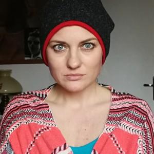 czapka szara melanż damsko-męska zimowa ciepła
