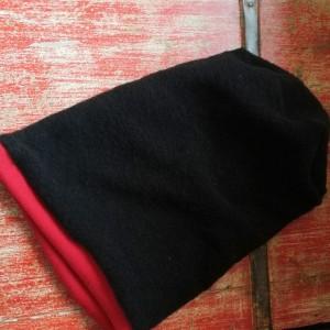 czapka czarna zimowa na podszewce damska