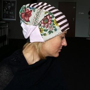 czapka patchworkowa damska etno boho ludowa handmade