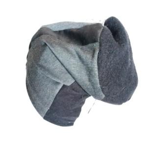 czapka patchworkowa damska dzianina   bawełna