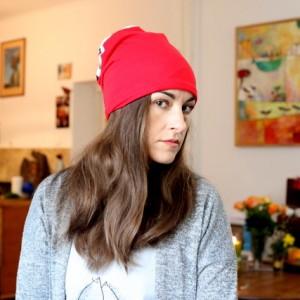 czapka dzianinowa dresowa