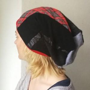 czapka damska patchworkowa styl boho szkocka kratka stylboho