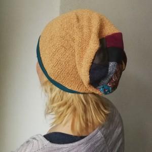 czapka damska etno boho patchwork kolorowa
