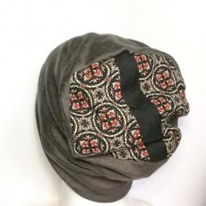 szara damska czapka uniwersalna miękka