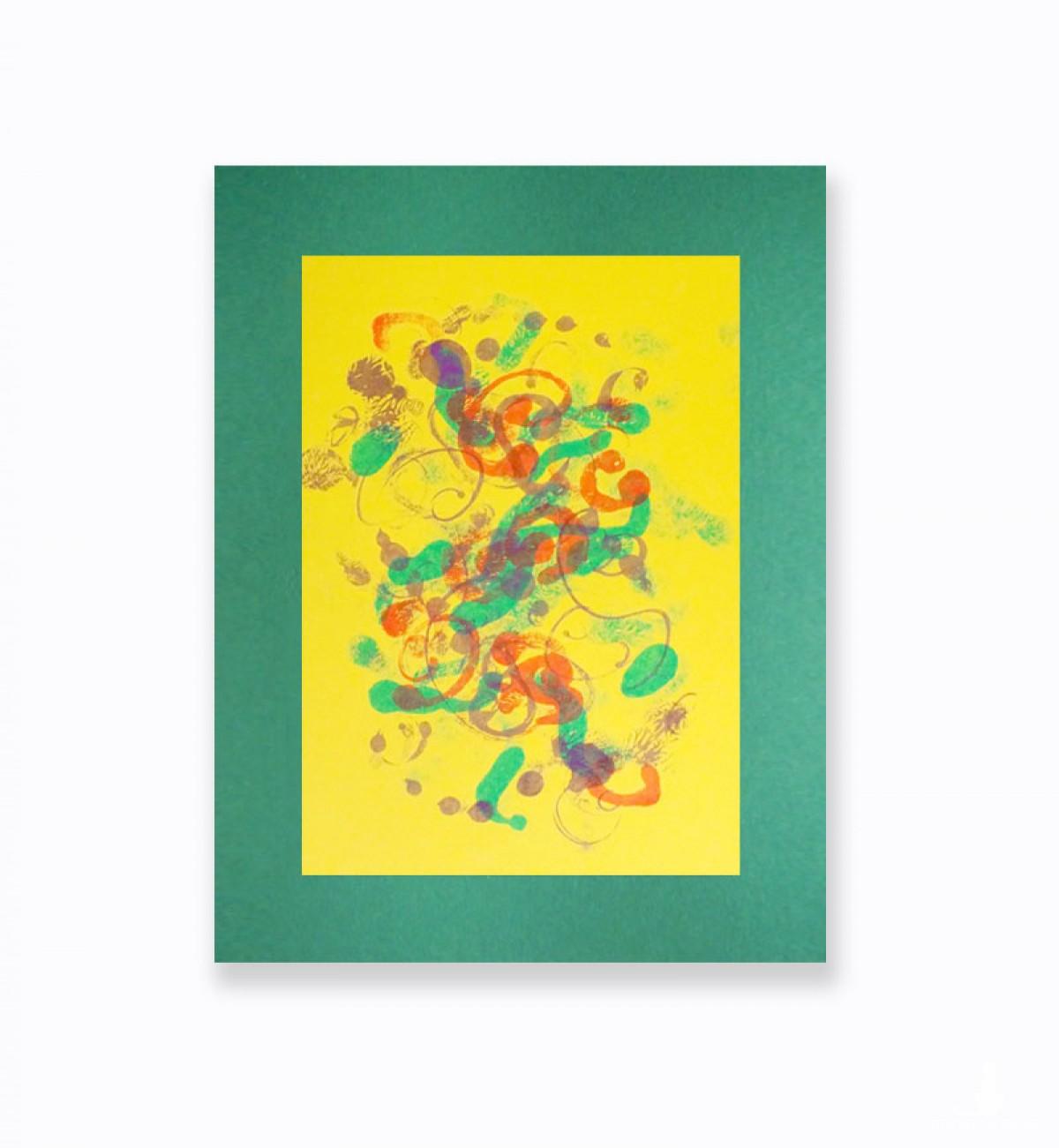 nowoczesna grafika na  ścianę, kolorowa abstrakcja do pokoju, obraz do loftu, minimalizm dekoracja