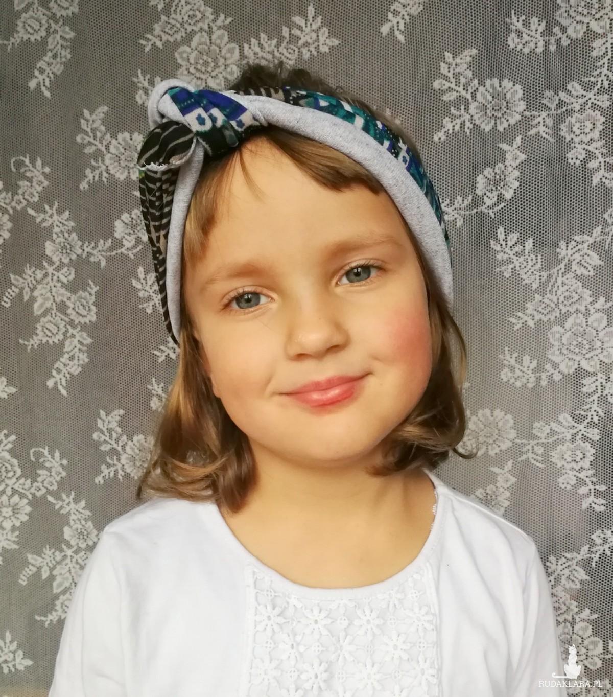 opaska uniwersalna w kwiatowym stylu handmade dziewczęca