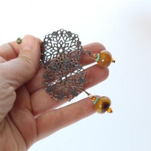 klipsy handmade ażurowe