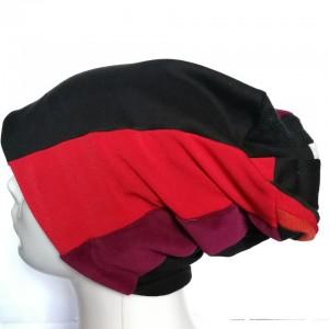 czapka patchworkowa ciepła damska uniwersalna
