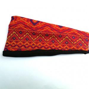 opaska damska szeroka we wzory etno boho handmade