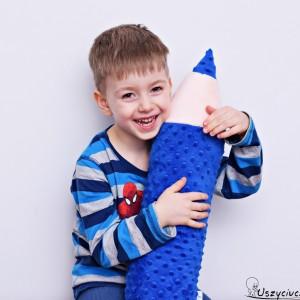 Kredka minky, poduszka dla dziecka, zagłówek dla dziecka, miękka kredka, duża kredka niebieska