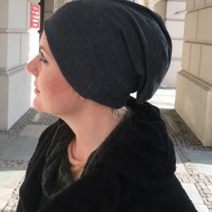 czapka damska szara  na podszewce sportowa