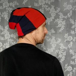 czapka damska męska unisex szyta patchworkowo