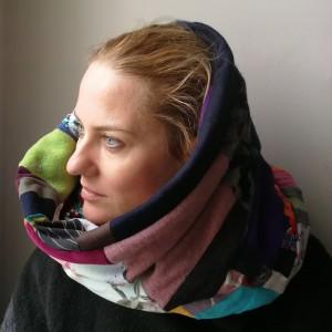 komin patchwork etno damski kolorowy folk
