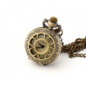 Bratek (Golden) - zegarek wisiorek na łańcuszku