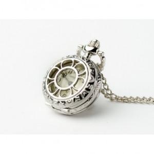 Bratek (Silver) - zegarek wisiorek na łańcuszku