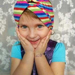 opaska turbanowa dla dziewczynki wiosenna