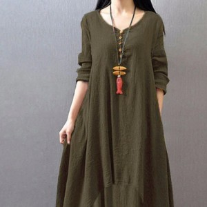 sukienka brązowa /khaki dwuwarstwowa duza 2XL