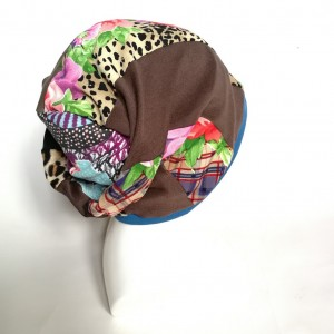 czapka damska kolorowa smerfetka długa handmade boho