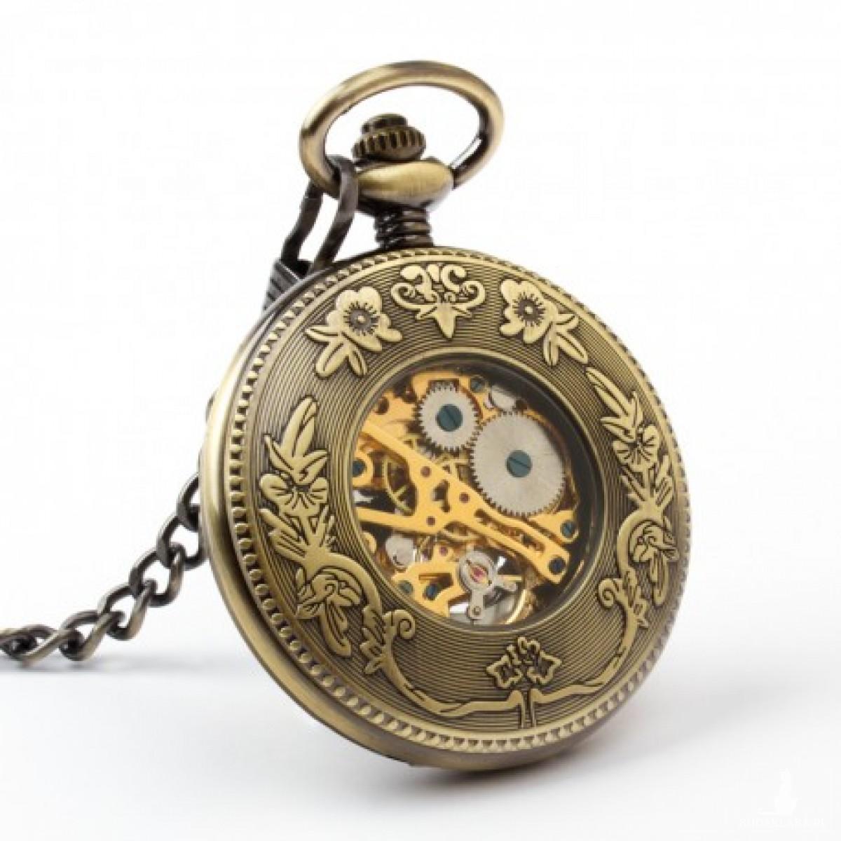 DRAGON AND PHOENIX - zegarek kieszonkowy na łańcuszku
