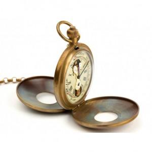 FRANCUSKI SZYK - zegarek kieszonkowy, dewizka