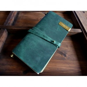 VINTAGE NOTEBOOK - GREEN + AKCESORIA