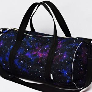 Torba podróżna wodoodporna podręczna, torba na basen siłownię, torba sportowa galaktyka
