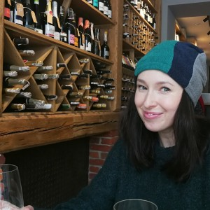 czapka damska szyta patchworkwo kolorowa ciepła miła handmade