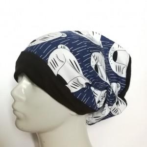 czapka damska męska w śpiące tygryski handmade