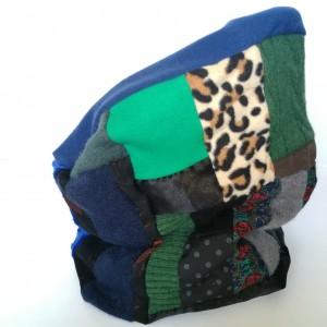 komin damski patchworkowy kolorowy handmade